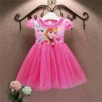dress frozen anak - gaun putri elsa - baju pesta peremp Murah