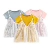 Dress anak/dress import anak/ bahan rajut