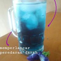 Teh celup biru bunga telang Martani