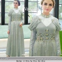 Baju Gaun Pesta Muslimah Elsa Princess abu mocca pink n Murah