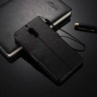 Leather Flip Cover Wallet Nokia 6 Case Casing Hp Dompet Kulit Premium