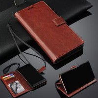 Leather Flip Cover Wallet Oppo A71 Case Hp Casing Dompet Kulit Premium