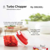 Turbo Chopper Red Merah Pencacah Tupperware