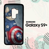 Casing Samsung Galaxy S9 Plus Custom HP CAPTAIN AMERICA CAT Z0998