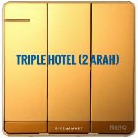 NERO Saklar Triple Hotel 2 Arah Decora Q7 Q71632-G Gold