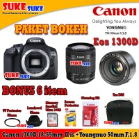 Canon EOS 1300D Kit 18-55mm IS II + Yongnuo 50mm F.1.8 PAKET BOKEH