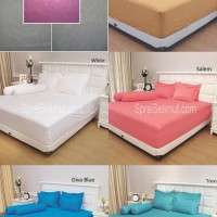 Sale !! -- Bed Cover Set Vallery King Koil Bahan Serat Aloe Vera Harga