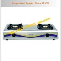 KOMPOR GAS 2 TUNGKU - RINNAI RI-522E [TERBARU]