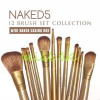 [ isi 12 kuas ] NAKED 5 brush kaleng 12 in 1/Make up brush