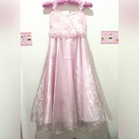 Dress Pesta Anak Remaja Size10 Pink / Gaun Pink Murah / Princess Dress