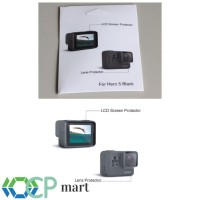 Lcd Screen + Lens Protector (anti Gores) Gopro Hero 5 Bl kamera camera