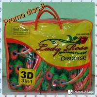 Bedcover Set Lady Rose 3D 3in 1