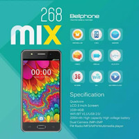 Handphone / HP Bellphone BP-268 BP268 Mix RESMI [RAM 1GB / ROM 4GB]