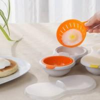 Egg Poach Alat Pemisah Kuning Telur Untuk Steamer & Microwave