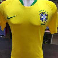 Jersey Negara Brazil Home World Cup 2018 Grade Ori Thailand
