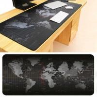 Gaming Mouse Pad Besar 300 x 700 mm Motif Peta Dunia