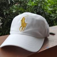 Cap Topi Polo Putih Big Pony Original