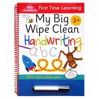 First Time Learning My Big Wipe Clean HANDWRITING with wipe clean pen