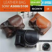 Sony Alpha A5000 / A5100 Leather Bag / Case / Tas Kamera Mirrorless