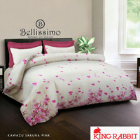 Sprei King Rabbit Uk. 160/180 - Kawazu Sakura Pink