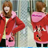 Jaket Hoodie Minnie Dance Jacket Wanita j038-01