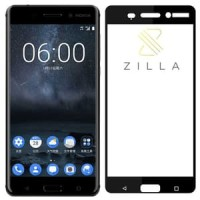 Zilla 2.5D Tempered Glass Curved Edge 9H 0.26mm for Nokia 6 - Hitam