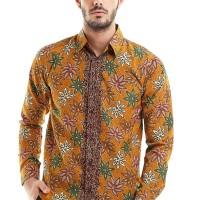 Batik Flike Store Kemeja Lengan Panjang Orange Scoot