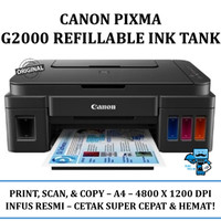 Canon PIXMA G2000 Refillable Ink Tank All-In-One Printer (infus resmi)