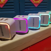 BATOK CHARGER LED SAMSUNG 2 USB 2AMPERE