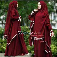 Baju Gamis Muslim Wanita fg-gamis muslim wanita jersey maroon keren