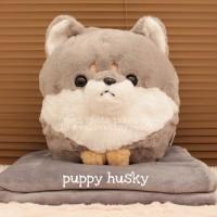 Balmut Puppy Corgi Husky Pug - boneka selimut anak anjing import lucu