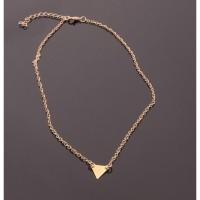 kalung segitiga emas single triangular necklace clavicle short jka075