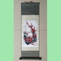 Souvenir lukisan gantung / silk painting dari negara China