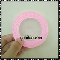 1 Roll Pita Satin 6mm Pink Muda