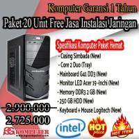 Komputer UNBK Paket HEMAT GARANSI 1 TAHUN Lengkap Tinggal Pakai