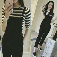 b4732270228 Baju wanita jumpsuit funny hitam