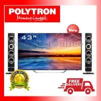 LED TV POLYTRON 43 Inch PLD 43TV865 CINEMAX WAVE HARGA DISKON