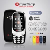 [FS] Strawberry Maroko 3310 | Handphone Candybar HP Murah Kamera