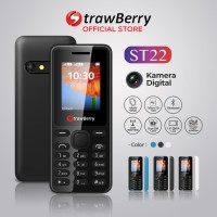 [FS] Strawberry ST22 | Handphone Candybar HP Murah Kamera Bluetooth