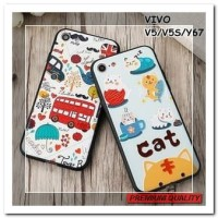 [HP] FOR VIVO V5/V5S/Y67, VIVO Y69 - 3D RELIEF SOFT CASE PLASTIC AND S