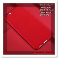 [HP] FOR OPPO F3, F1S/A59, A39/A57, F3 PLUS - SOFT SILIKON RED MATTE F