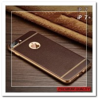 [HP] FOR IPHONE 7, 7 PLUS - LUXURY SIMPLE RETRO BROWN LITCHI LEATHER S