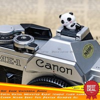 Hot Shoe Cover FLash Panda Unik Lucu Keren Kece Kamera DSLR Canon