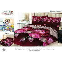 BEDCOVER SET LADY ROSE 180 LOTUS 180X200 KING SIZE NO.1 MURAH