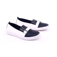 GARSEL sepatu CASUAL wanita Hitam Putih GDC 5428 murah ori original
