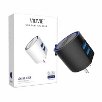 Vidvie 2 Usb Port Micro Charger (Usb Cable Included-Micro) - Plm301
