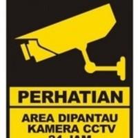 Stiker Label CCTV 15 cm x 20 cm