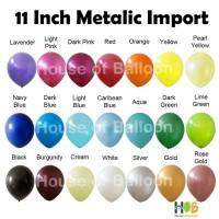 Balon Latex Lateks Karet Tebal Tiup Metalik Metalic 12 inch / 11 Inch