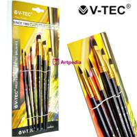 V-Tec Artist Brush 9074 Set 6 / Kuas Lukis Set isi 6
