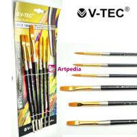 V-Tec Artist Brush 9055 Set 6 / Kuas Lukis Set isi 6